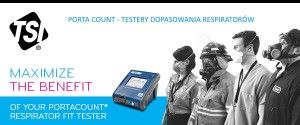 Tester dopasowania aparatów oddechowych respiratorów - TSI PortaCount Pro+
