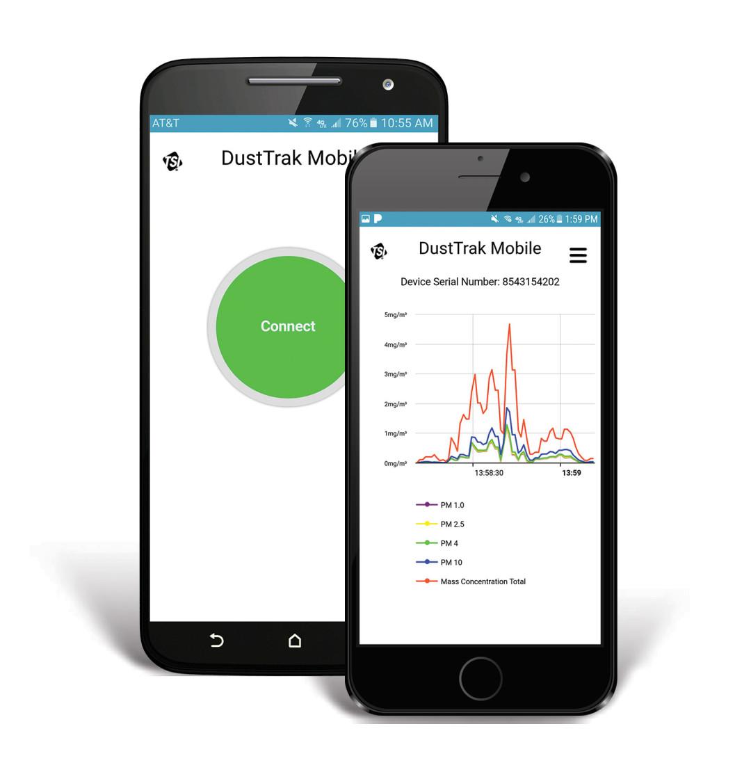 DustTrak Mobile – Aplikacja do zdalnej łączności